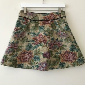 Free people A-line floral tapestry style skirt